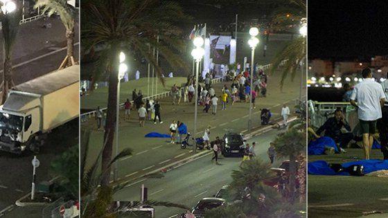 Stava terminando la festa per il 14 luglio lungo la Promenade des Anglais quando l'attentatore è entrato in azione. Più di cento i feriti.