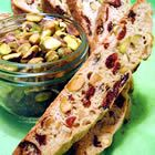 Super easy to make biscotti.  I have tried this recipe using a variety of dried fruit, nut and flavoring combos - even chocolate chips- frosted or not and it always comes out great.  They don't get super hard like most biscotti and the flavor of the dough is fantastic.