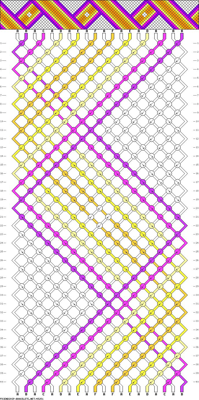 friendship bracelet pattern patterns