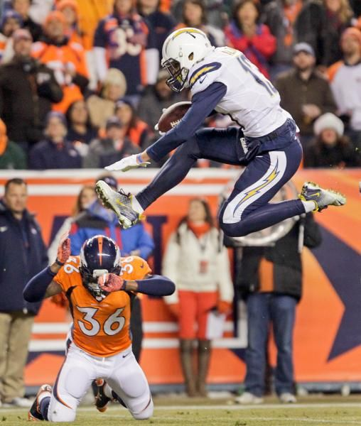 San Diego Chargers Cornerbacks: San Diego Chargers Wide Receiver Keenan Allen (13) Leaps