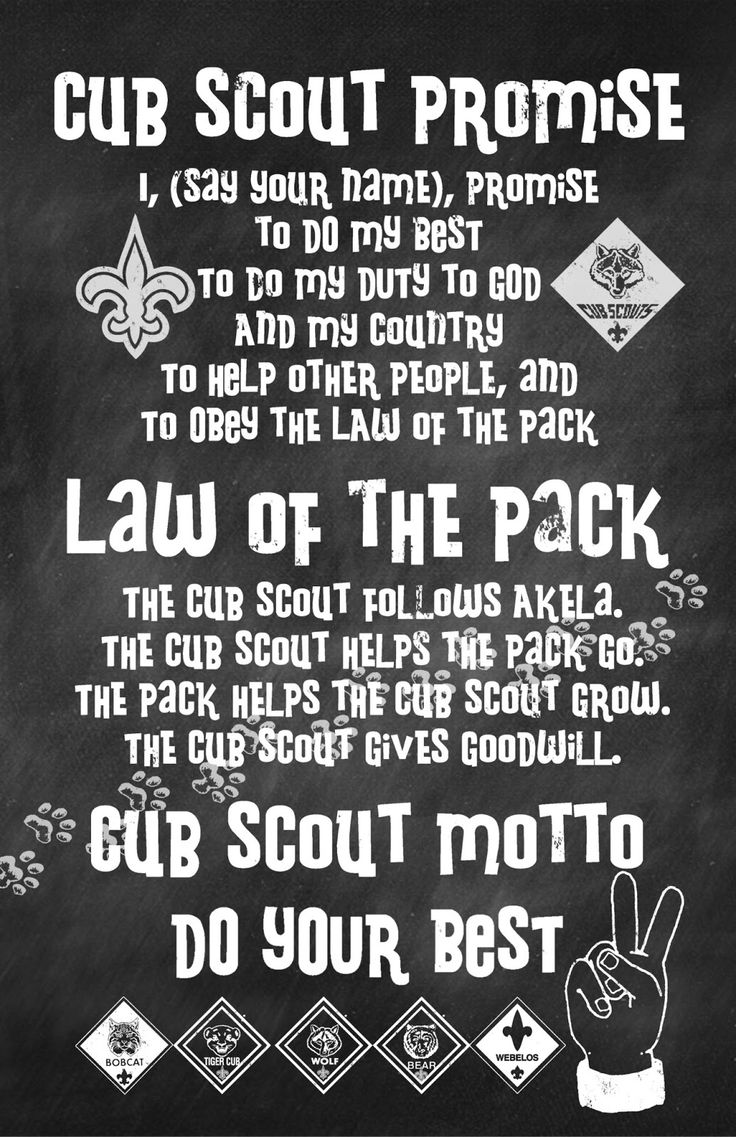 The Sew*er, The Caker, The CopyCat Maker: Cub Scout Promise, Law, and Motto