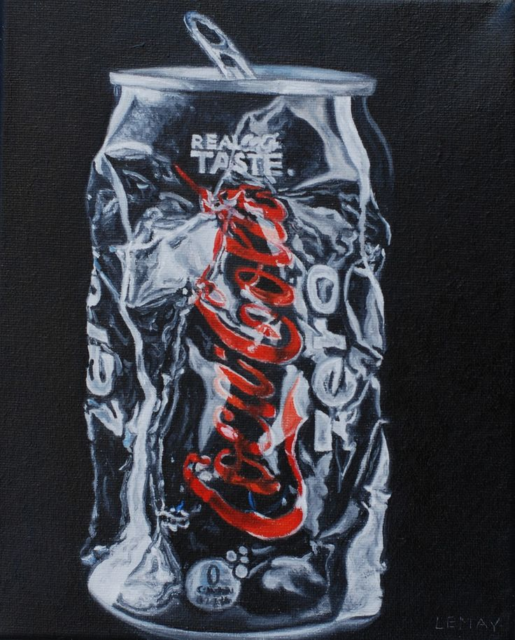 painting on drinks cans - Google Search