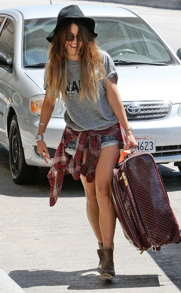 Steal their Style: Hottest Celebs' Outfits of The Week Vanessa Hudgens Boho Vanessa Hudgens Boho-chic look at LAX