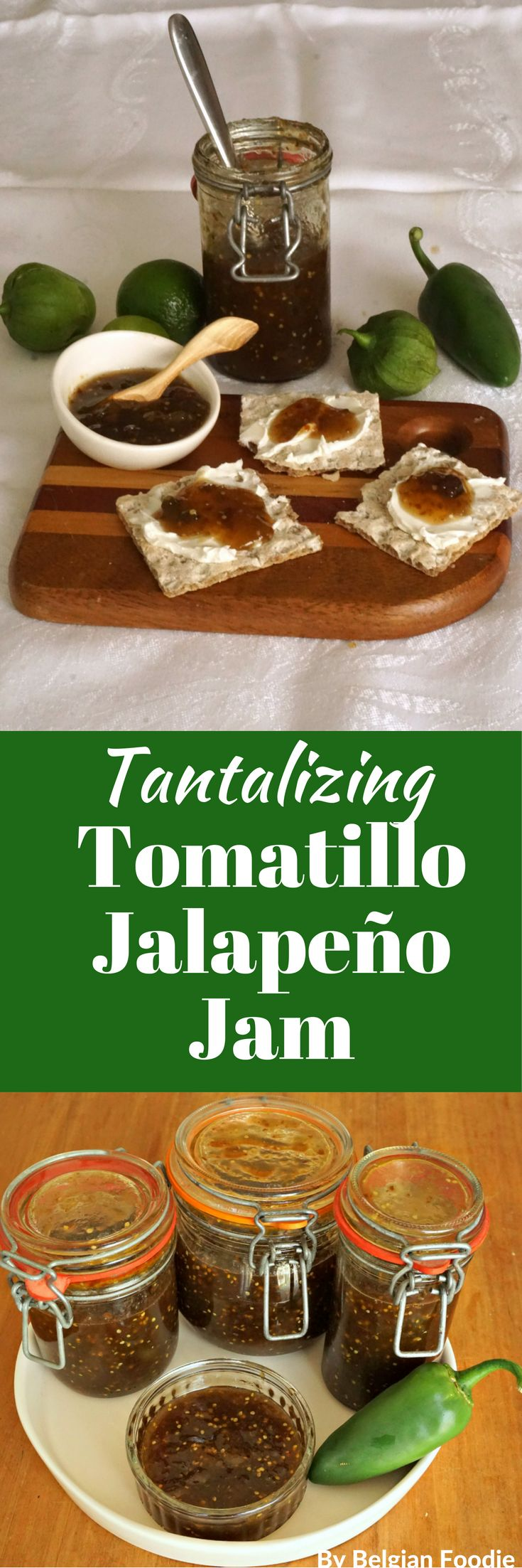 Try this Tomatillo Jalapeño Jam to turn an ordinary dish into an EXTRAORDINARY dish!