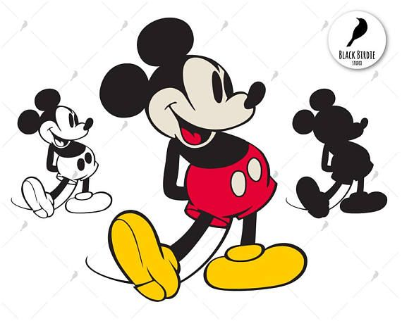 Retro Mickey Mouse svg Mickey Mouse clipart Mickey svg