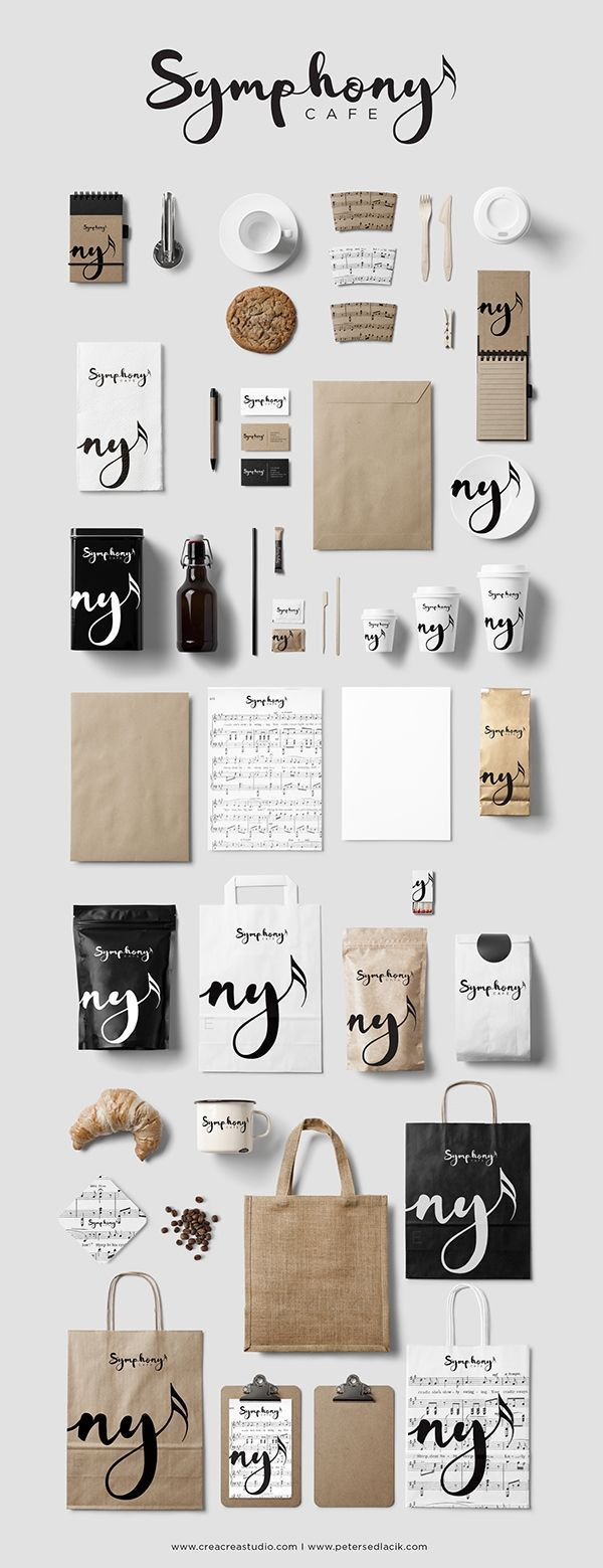 Symphony Cafe Branding & Logo Design http://creacreastudio.com branding. identity. logo. graphic design. visual communication. typography. logotype. packaging design. label design.
