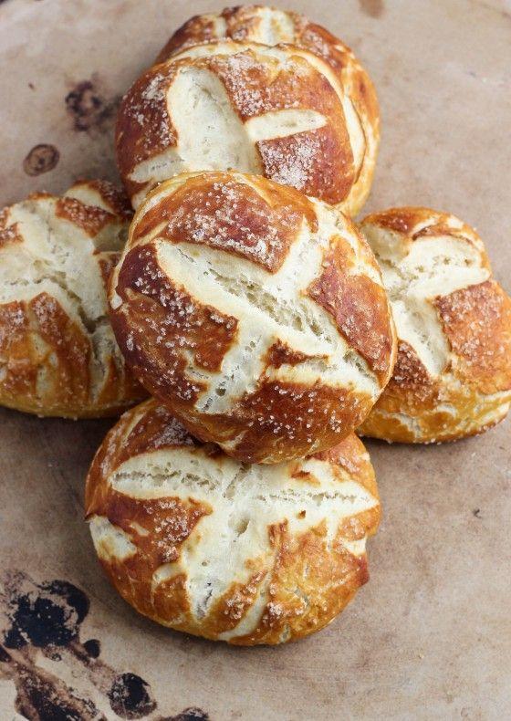 Salted Pretzel Rolls via Bake Your Day #recipe