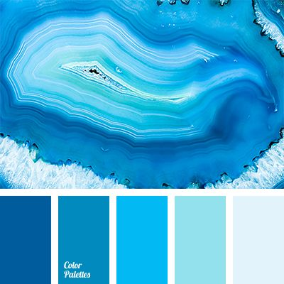 Monochrome shades of blue ranging from pale to dark, almost deep blue color, suit for decoration of a bedroom or a bathroom. These colors will also look gr.