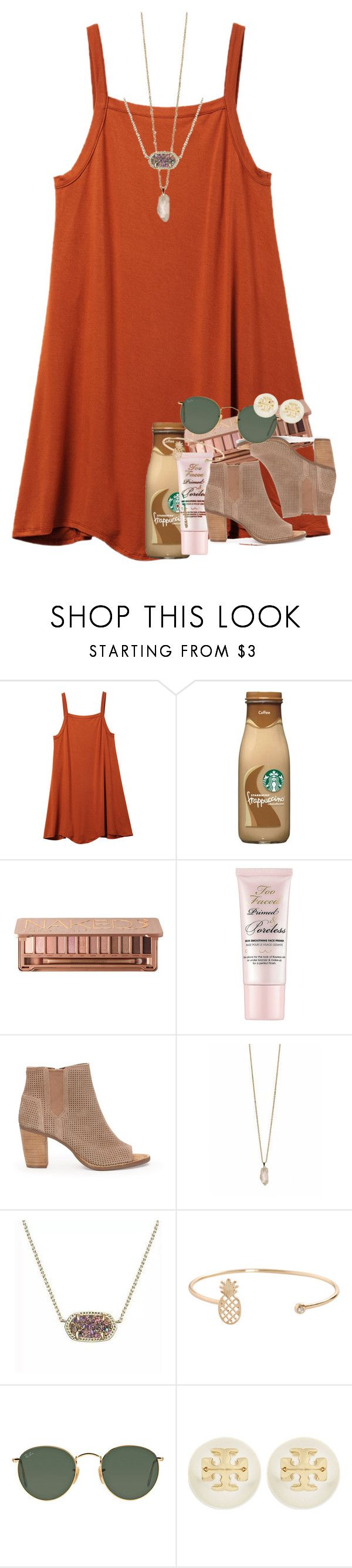 """""""binge watching grey's (:"""" by ellaswiftie13 on Polyvore featuring RVCA, Too Faced Cosmetics, TOMS, Zoya, Kendra Scott, Humble Chic, Ray-Ban and Tory Burch"""