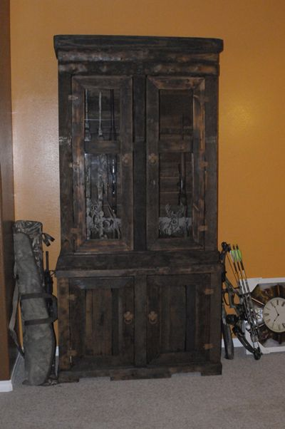 How To Make A Gun Cabinet From Wood Woodworking Projects Plans