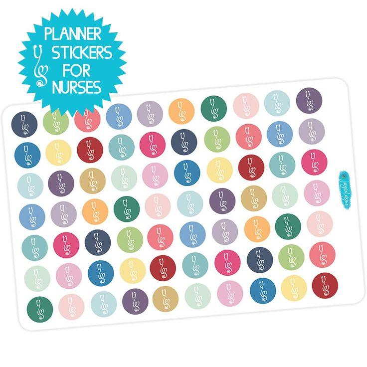 Nurse Stethoscope Planner Stickers