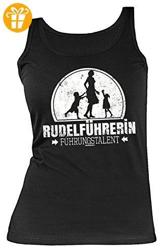 Damen Trägershirt, Tank Top für Mama zum Geburtstag und Muttertag, Sprücheshirt, Funshirt - Rudelführerin - Führungstalent (*Partner-Link)