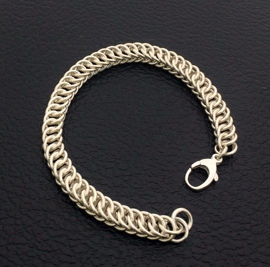 Every piece deserves a loving home! Stainless Steel Box Link - Feels Great! http://etsy.me/1ZiPZtq SheilaBycraftJewellery -Bracelet-BoxChainmail-StainlessSteel-Chaimail HandmadeToLast-Quality-Timeless-Jewelry -Sarnia-London-SouthwesternOntario