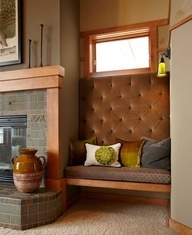 contemporary craftsman - love the cozy built in seat