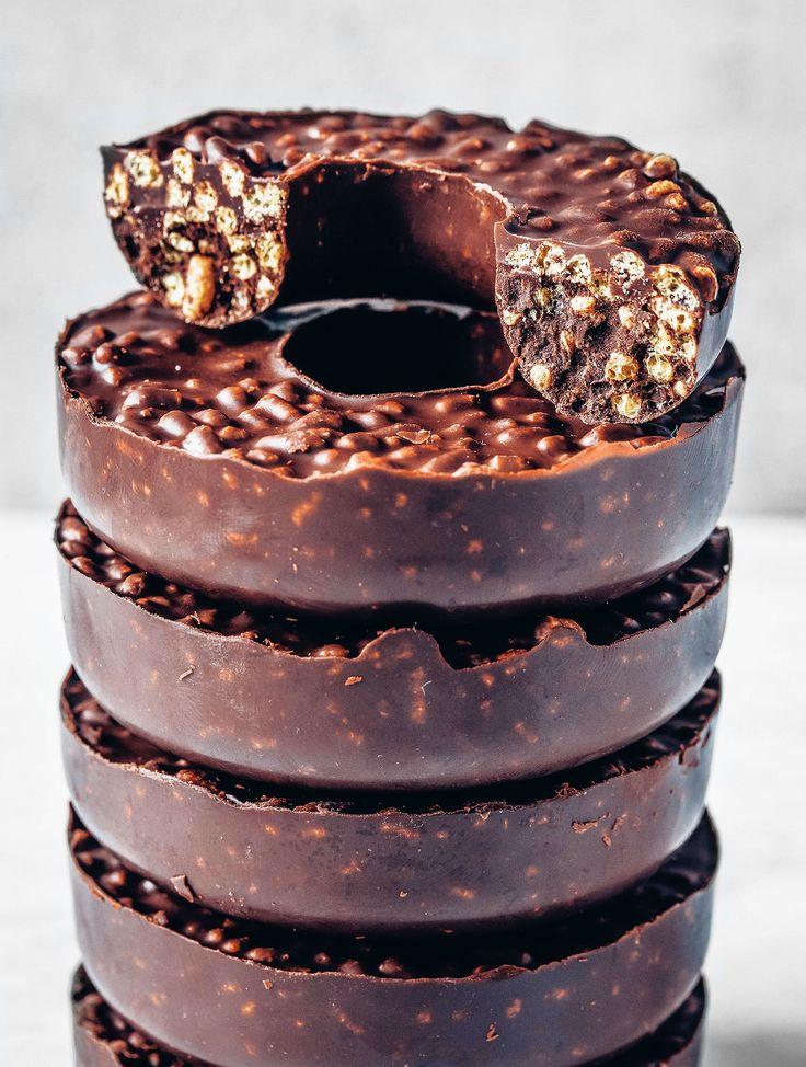 3-Ingredient Chocolate Crunch Doughnuts (Vegan & Gluten-free)