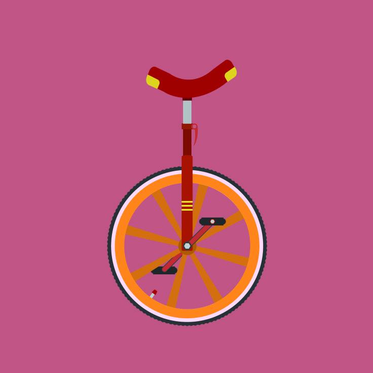 Unicycle Illustration