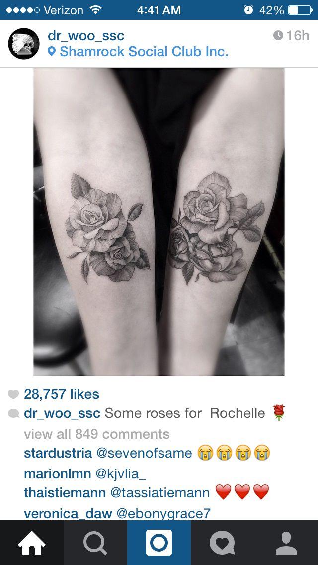 (from Dr. Woo - Brian Woo, artist. Shamrock Social Club, Hollywood, CA.) Roses