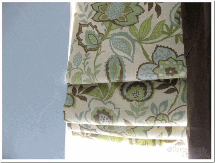 Mini-blind makeover.  Start with the ugly plastic mini-blind and end up with a beautiful window covering!