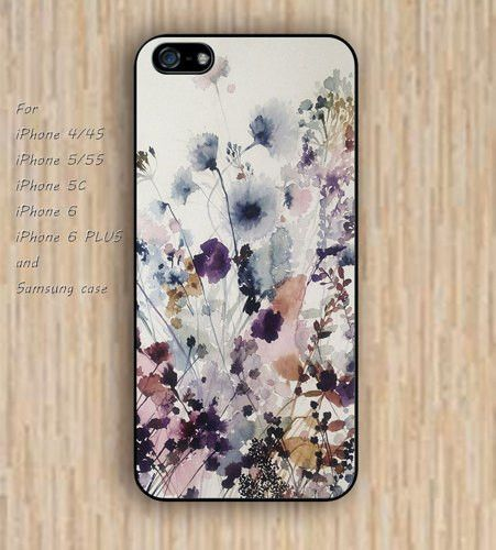 iPhone 5s 6 case Infinite watercolor grass flowers colorful dream phone case iphone case,ipod case,samsung galaxy case available plastic rubber case waterproof B745