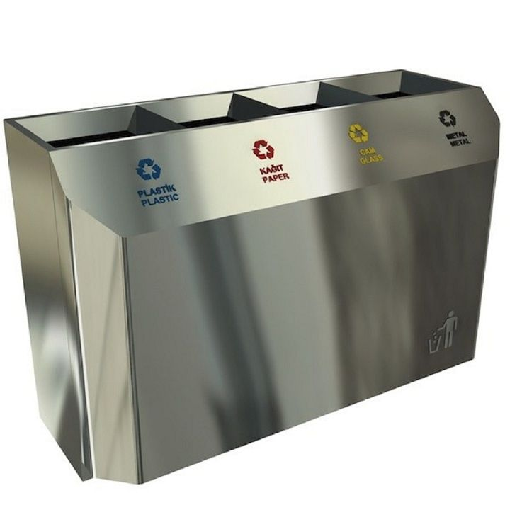 Our most popular and best seller recycling bin station made from high quality anti-fingerprint stainless steel. Equipped with a lockable back door and removable interior litter bins for easy cleaning. Easy transport and handling is possible thanks to it's 4 hidden wheels. #interiordesign #homeadore #designboom #stylist #designer #interior #decoration #architecture http://www.urbaniere.com/shop/stockholm-designer-best-seller-waste-recycling-station-stainless-steel/