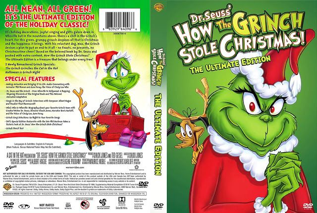 How The Grinch Stole Christmas Ultimate Edition Dvd Cover Grinch