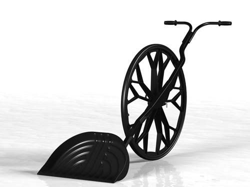 Want to avoid the pain and pollution associated with snow removal this winter? Try out the Sno Wovel, a newfangled snow shovel with wheels.