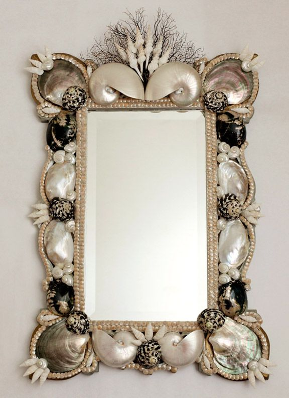 Conch Mirror-WOW!  Breathtaking...and so wish this were mine.  I could build a room around this!