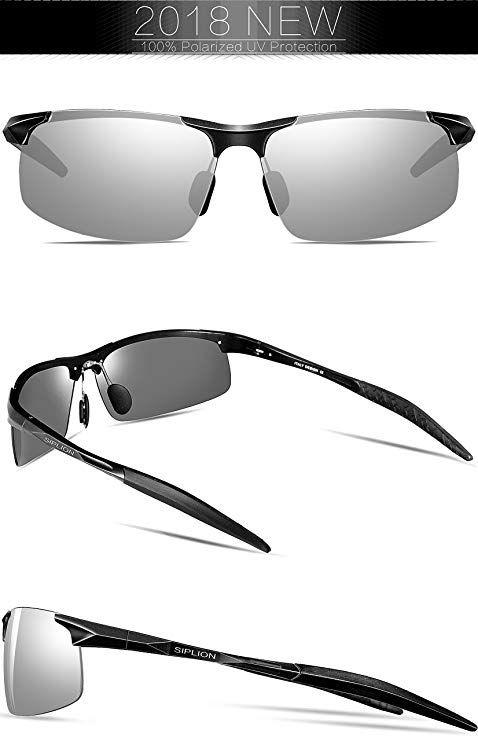 3e935717e2433 SIPLION Men s Driving Polarized Sport Sunglasses Al-Mg Metal Frame Ultra  Light 8177 Brown