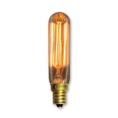 Bulbrite 132506 25 Watt Nostalgic Incandescent Edison T6 Tube With Vintage Thread Filament And