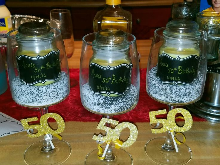 50 Th Birthday Centerpiece F I F T Y Birth