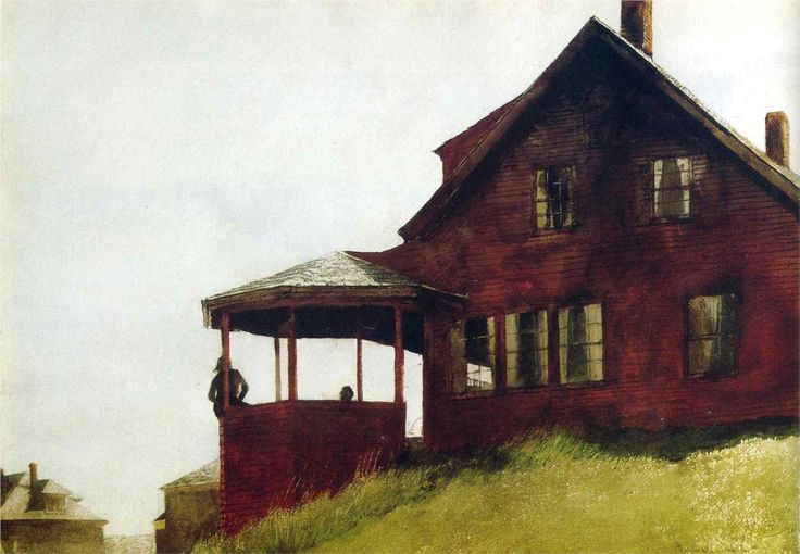 Jamie Wyeth, this piece speaks to me of solitude and perhaps even isolation.