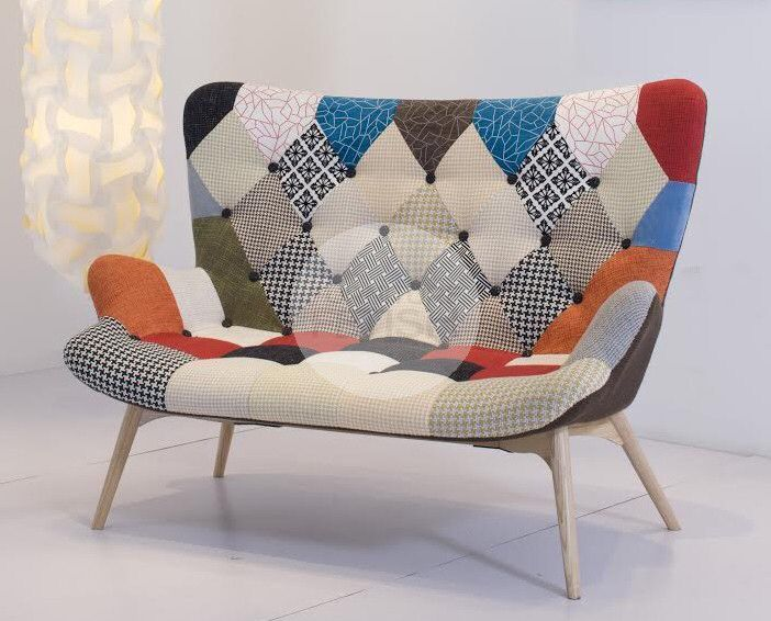 Replica Grant Featherston R161 2 Seater Sofa - Vintage Patchwork