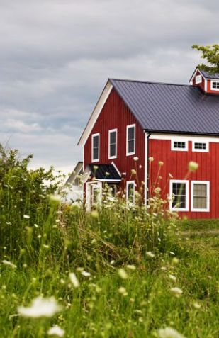 : Roof Color, Schoolhouse Styled, School Houses, Red Schoolhouse, Color Red, Wedding Reception, Red Houses, Barn Houses