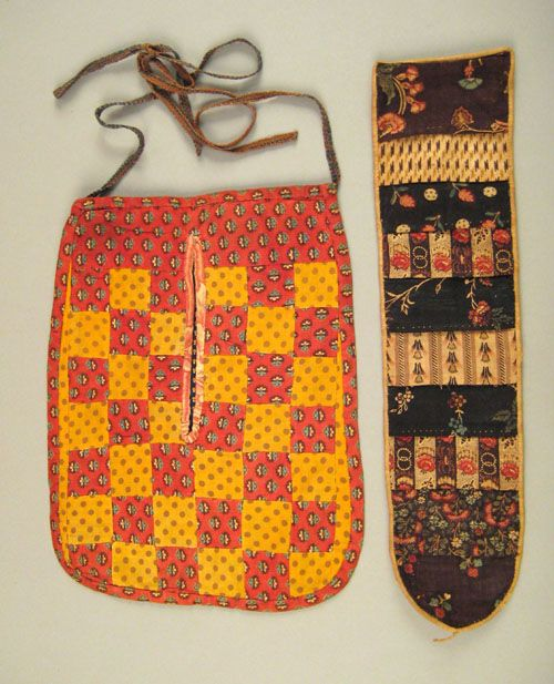Sold For 936.00 Two Pennsylvania patchwork sewing pockets, 19th c., 16 1/4 h. and 12 1/4 h.