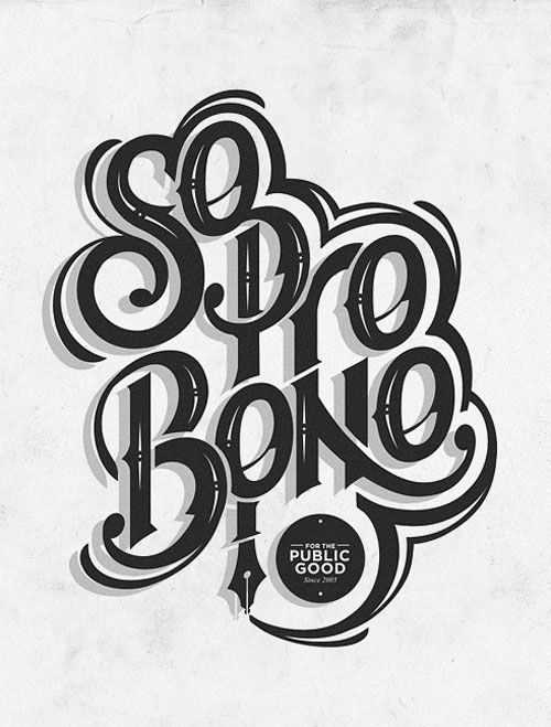 Creative Typography Design: Design Inspiration, Probono, Typography Design, Hands Letters, Graphics Design, Pro Bono, Types, Fonts, Photo