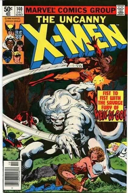 Uncanny X-Men 140 - Wolverine - Wendigo - Nightcrawler - John Byrne, Terry Austin