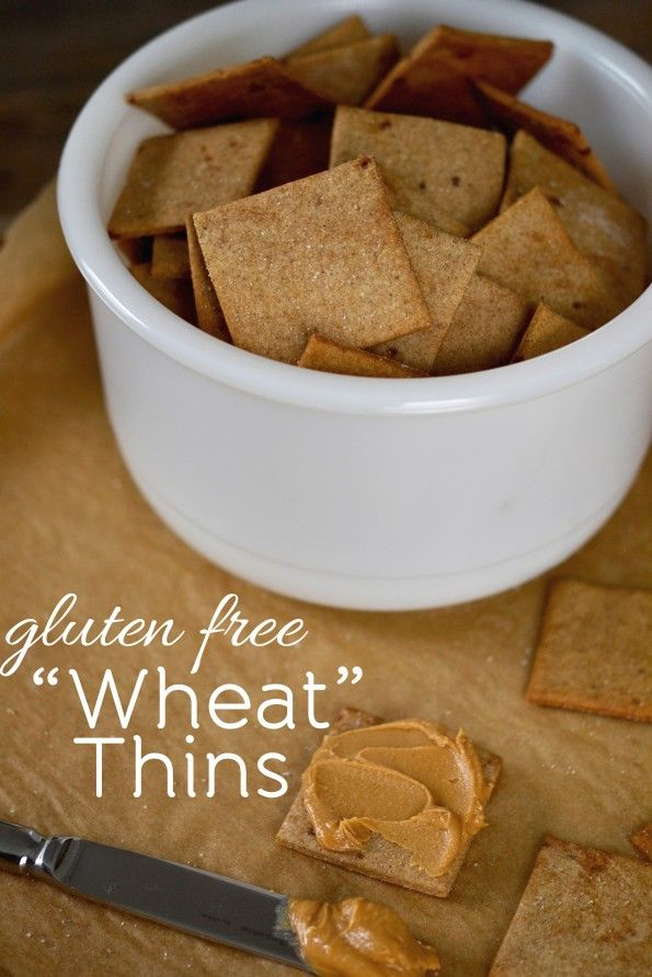 Wheat thins used to be my favorourite.  They caused me huge problems around the time I finally figured out the what was wrong with me but I have to try these.  Gluten Free Wheat Thins Copycat Recipe - Gluten Free, Egg Free, and Dairy Free if you sub out the butter