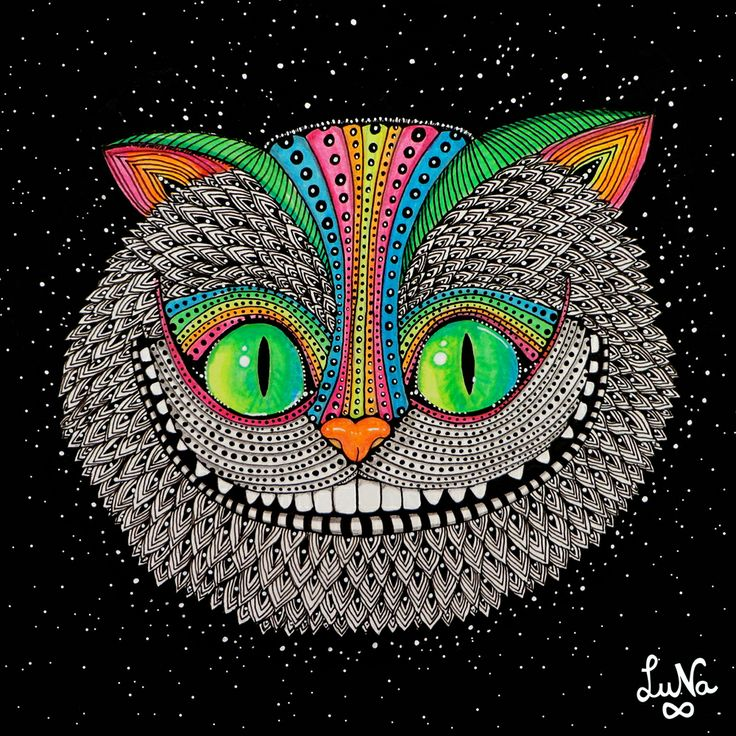 cheshire cat in color drawing ideas pinterest