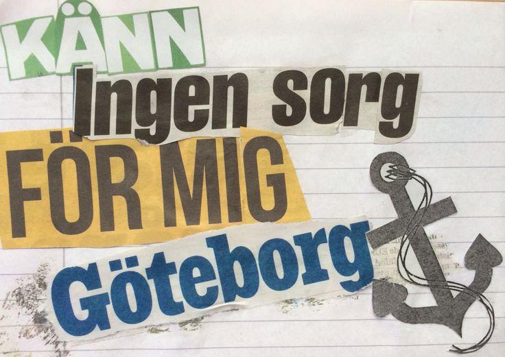 Känn ingen sorg för mig Göteborg. Håkan Hellström.