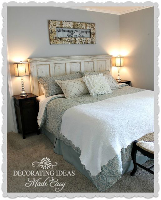 1000 images about headboards on pinterest diy headboards distressed headboard and night stands - Old fashioned vintage bedroom design styles cozy cheerful vibe ...
