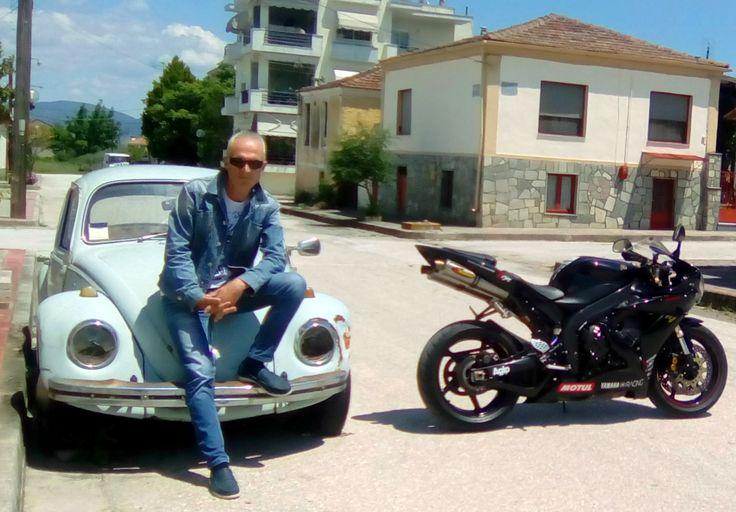 Me, Yamaha R1 and Volkswagen   Beatle