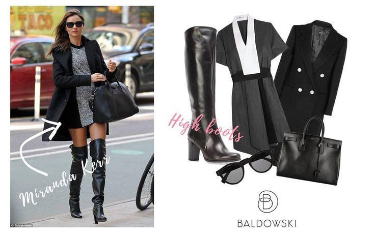 Get inspired by Baldowski #mirandakerr #totalblaclook #ootd #inspiration #overthekneeboots #black #fashion #celebrities