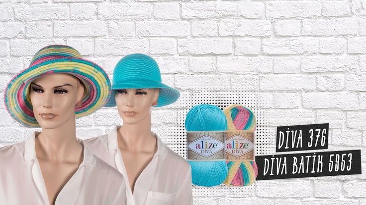 Alize Diva ile Yazlık Şapkalar - Summer Hats with Alize Yarns