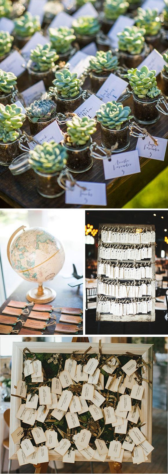 Etiquetas para bodas. Ideas Seatting plan