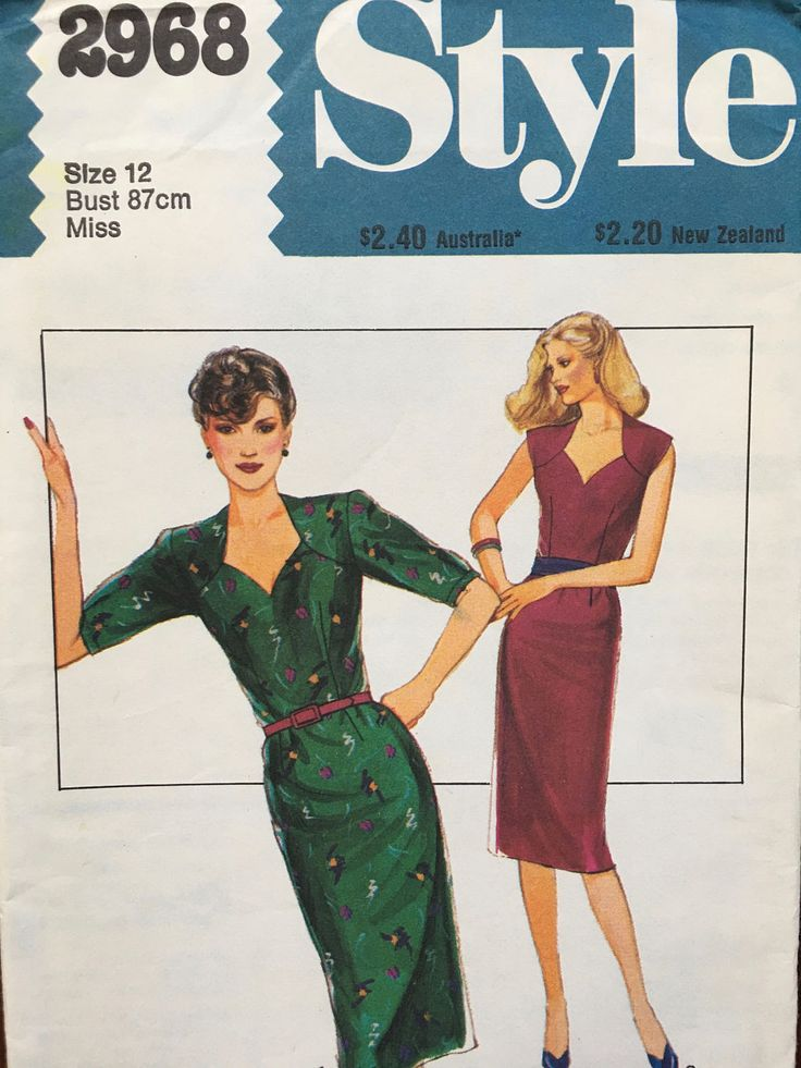 RARE Absolutely stunning Dress: fitted, straight dress, Style 2968 Size 12 Bust 87 by weseatree on Etsy