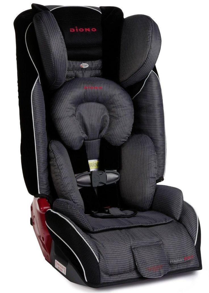 Diono Radian RXT Black Cobalt Convertible + Booster Folding Car Seat - Shadow