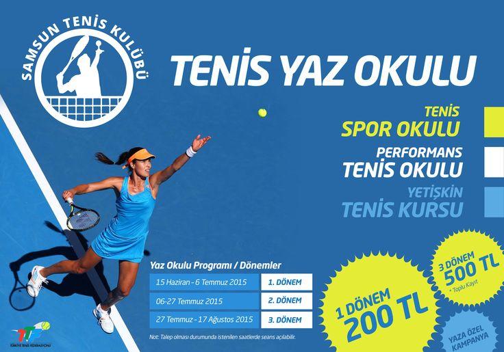 Samsun Tenis Kulübü | Tenis Yaz Okulu billboard tasarımı