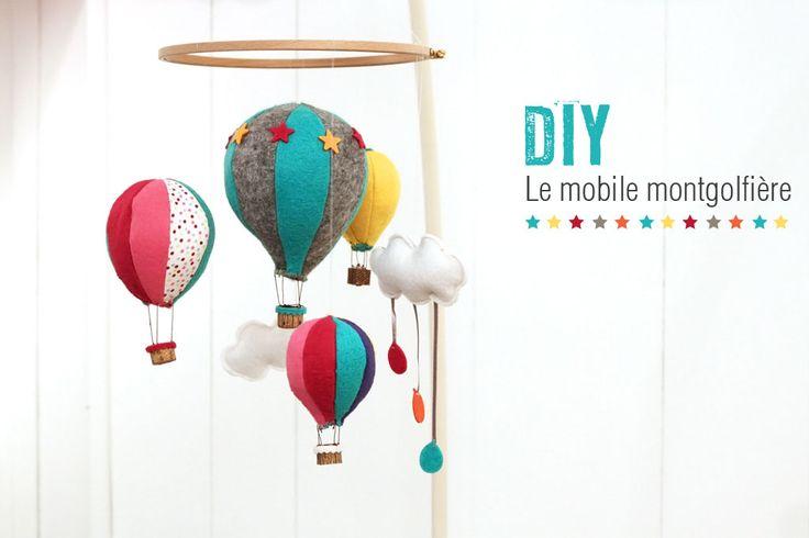 D'adorables montgolfière à suspendre dans la chambre de bébé !   Et pour le tuto, c'est par ici : http://makeri.st/tuto-montgolfieres