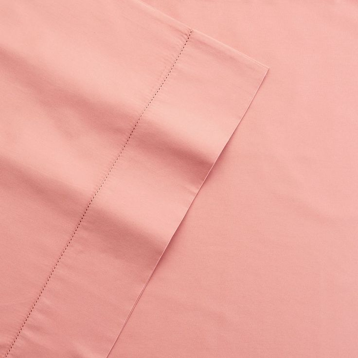 Grand Collection 400 Thread Count Hemstitch Solid Sheet Set, Pink Cal King