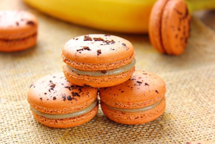 Macaron au caramel à la banane